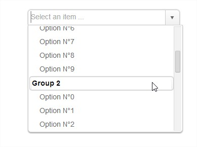 Optgroup with the kendo ui combobox for Kendo grid row template